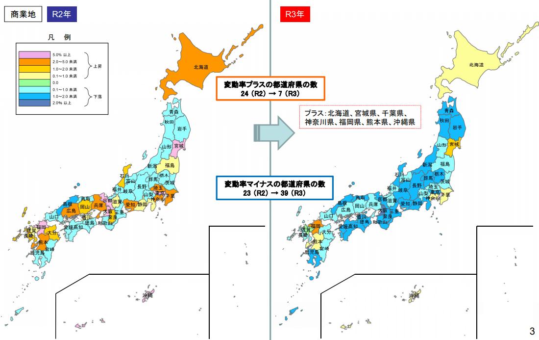 2021年の公示地価